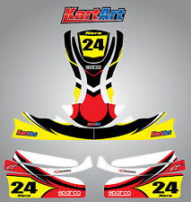 Arrow X1 Junior / cadet go kart  full custom KART ART sticker kit NERO STYLE