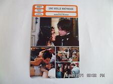 CARTE FICHE CINEMA 2007 UNE VIEILLE MAITRESSE Asia Argento Fu'ad Ait Aattou
