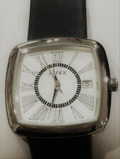 Alfex Swiss Ladies Stainless Watch w/Silver Dial & Roman Numerals (5555-399) NEW
