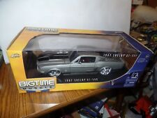 RARE Jada Big Time Muscle 1967 Ford 67 Shelby Mustang GT-500 Chrome Silver 1:18