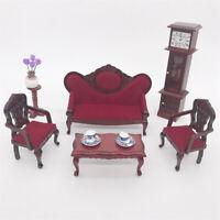 3Pcs/Set 1/12 Doll House Wooden Sofa Armchair Model Miniature Funiture Eager
