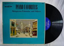 Vintage Piano Favorites Malaguena Polonaise and Others Vinyl LP