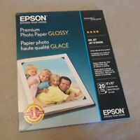 "EPSON Premium Photo Paper GLOSSY 20 Sheets 8"" x 10"" SO41465 NEW FREE SHIPPING"