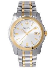 Bulova Men's Quartz Silver-Tone and Gold-Tone Bracelet 40mm Watch 98H18