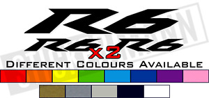 6 PIECE YAMAHA R6 LOGO STICKERS / DECALS SET - DIFFERENT COLOURS AVAILABLE