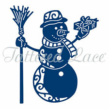 Tattered lace metal cutting Die christmas festive Snowman etl296