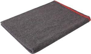 "Grey Wool Emergency Rescue X-Large Blanket 66"" x 90"" Warm Winter Cover Throw"