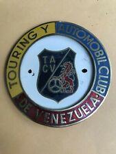 Badge Automobile Touring y Automobil Club de Venezuela TACV enamel car auto badg