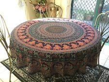 Round table cloth 190cm diameter 100% Cotton Traveller's Jewel