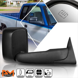 For 94-97 Dodge Ram 1500/2500/3500 Powered+Heated Black Side Towing Mirror Right