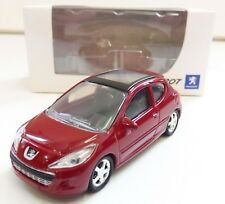 "PEUGEOT 207 3 Portes Rouge 1/64 ""3 Inche"" Norev Diecast Neuf Boite"