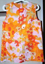 Marimekko KRISTINNA Sleeveless Blouse CHILI PRINT Bright Colors Size 36 S Zipper
