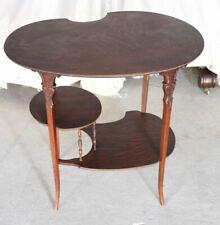 Antique Fancy Shaped Oak Lamp Table