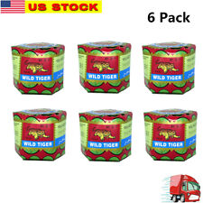 6  WILD TIGER BALM Herbal Rub Massage Muscles Ointment Menthol PAIN RELIEF