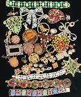 Vintage Jewelry Huge Rhinestonr  Deco Nouveau craft harvest lot