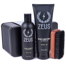 rand New Zeus Basic Beard and Mustache Grooming Kit, Verbena Lime