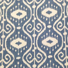 MAGNOLIA HOME BALI YACHT IKAT BLUE COTTON UPHOLSTERY FABRIC $7.50/YD BTY 76FE