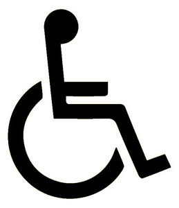 Disabled Logo - 3M Scotchlite Reflective Sticker (Decal 680 Car Scooter Black)