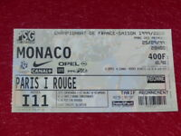 [COLLECTION SPORT FOOTBALL] TICKET PSG / MONACO 25 SEPTEMBRE 1999 Champ.France