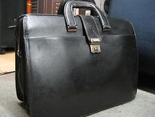 Vintage Hartmann Black Leather Lawyer Doctor Professional Briefcase Combination