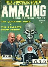 Amazing Stories Oct 1958 Robert Bloch The Crowded Earth