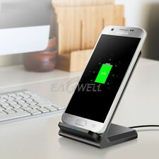 Qi Wireless Fast Charger Charging Stand Black Cradle Dock FOR Samsung S8 S8 Plus