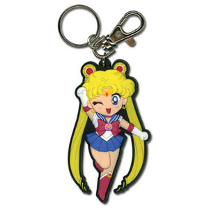 "Sailor Moon Anime SD Chibi Sailor Moon Wink PVC 3"" Keychain Official Licensed"