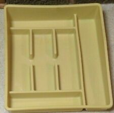 """Vintage Rubbermaid Party Plan Utensil Tray Gold 2924 Measures 13 1/2"""" X 11 1/2"""""""