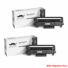 2PK TN760 Black Toner Cartridge With Chip For Brother DCP-L2550DW HL-L2350DW