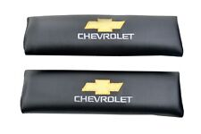 CHEVROLET SSR SEAT BELT SHOULDER PADS BLACK WITH EMBROIDERY EASY TO INSTALL