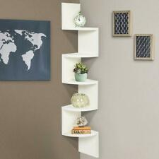 corner zig zag shelf | zig zag corner shelf white| Free Shipping With DHL