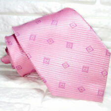 Cravatta rosa geometrica TOP Quality NOVITÀ Made in Italy 100% seta jacquard