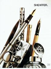 Publicité Advertising 089  1992  les stylos Sheaffer  coll  nostalgia connaisseu