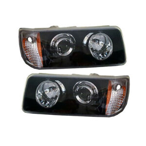 FREIGHTLINER FLD 112 120 BLACKED OUT PROJECTOR HEADLIGHTS