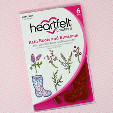 Heartfelt Creations Cling Rubber Stamp Set ~ Rain Boots and Blossoms, HCPC3811