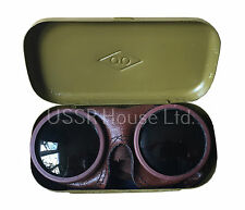 Genuine Soviet USSR Russian Militaria Vintage Sun Protect Glases Shooter Goggles