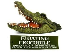 Large 46cm Floating Open Mouthed Crocodile Head - Floats in Pond / Water Feature
