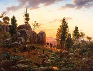 Eugene Von Guerard - Stony Rises, Lake Corangamite, Australia Art - Canvas Print