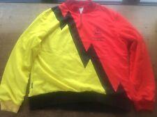 WARWICKSHIRE ROAD CLUB Red Black Yellow XL Vintage Men's Cycle Jacket Jersey