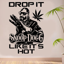 "Snoop Dogg ""Drop it like its hot"" Weed Wall Art Sticker/Decal"