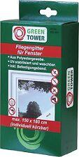 Fenster Fliegengitter 150 x 180 cm Weiß Insektenschutz