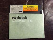 "Vintage Color Printer for Apple/Epson 1983 5 1/4"" Floppy Disk Apple II 5.25"