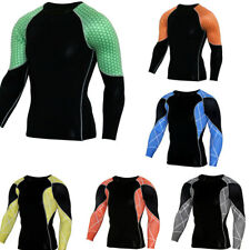 Men Compression Thermal Under Base Layer Top Long Sleeve Workout Tights T-shirt