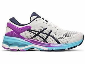 ASICS Women's Gel-Kayano 26 Running Shoes, White/Peacoat, Size 9.0 bChn