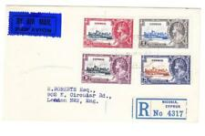 Cyprus SILVER JUBILEE-SG#144-47(complete set)-NICOSIA 11/DEC/35-REGISTERED