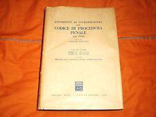 esposizione di giurisprudenza codice procedura penale libri I e II giuffrè
