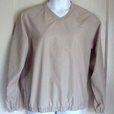 IZOD Golf Windbreaker Tan Polyester V-Neck Long Sleeve Unlined Ladies Size XL
