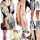 New Mixed Style Womens Pretty Long Soft Chiffon Scarf Wrap Shawl Stole Scarves