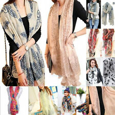 New Mixed Style Womens Pretty Long Soft Chiffon Scarf Wrap Shawl Stole Scarves