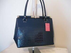 NWT $698 KATE SPADE NEW YORK KNIGHTBRIDGE CONSTANCE PETROLBLUE TOTE.Authentic!!!